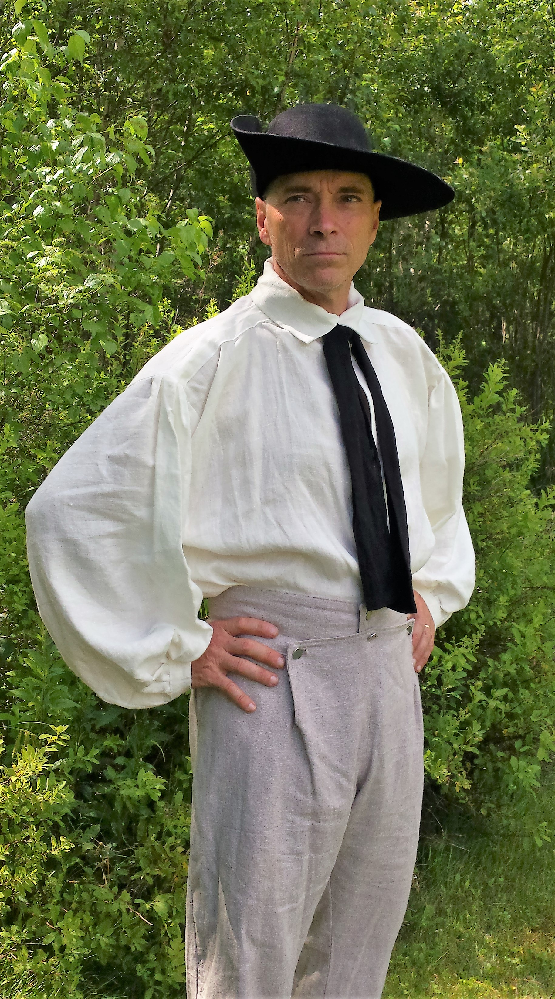 Reenactor' trousers; Revolutionary War Trousers; 18th Century Trousers;
