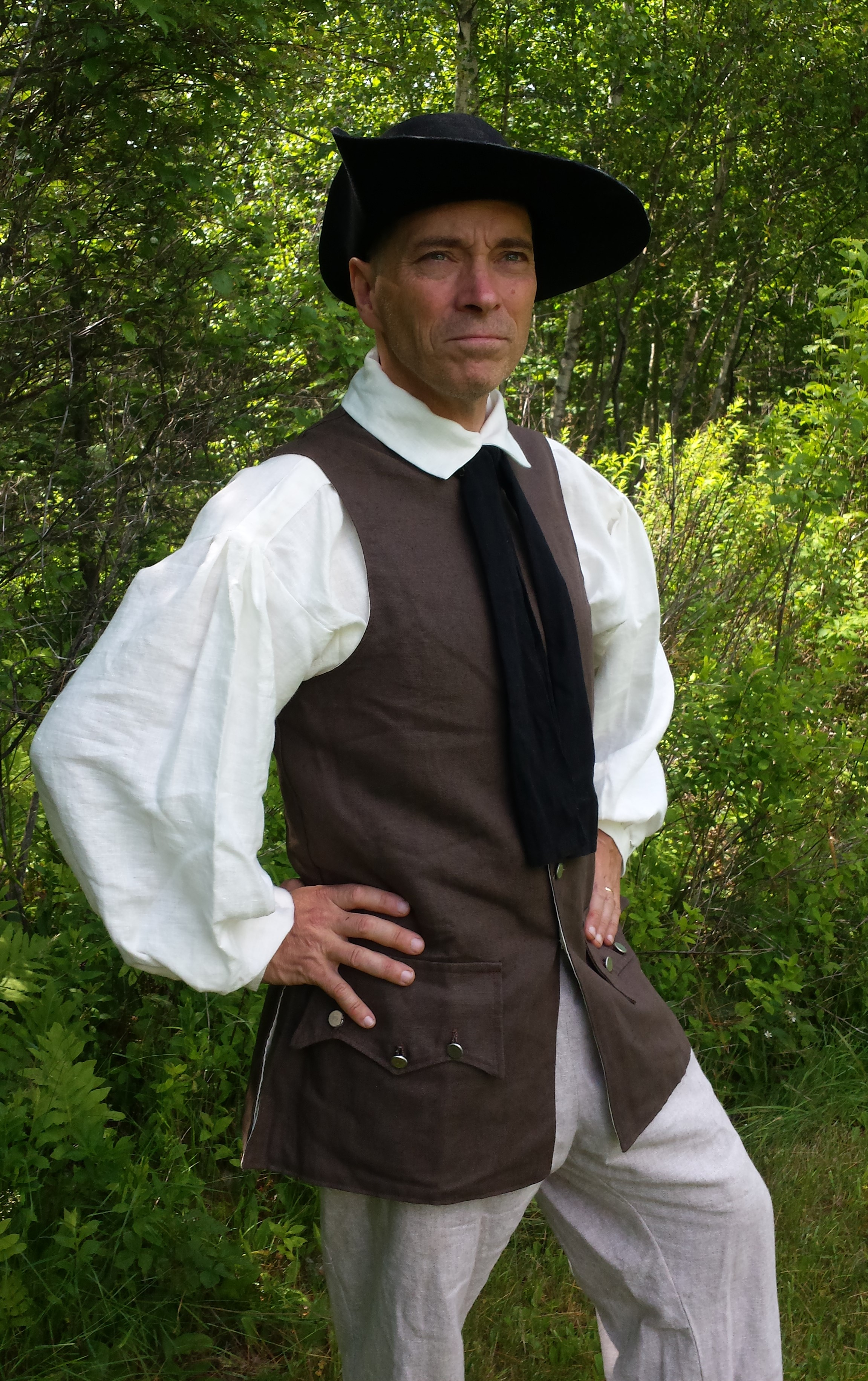 Weskit; Waistcoat; Vest; 18th Century Waistcoat; 18th Century Vest; 18th Century Weskit; Ranger Vest; Ranger Waistcoat; Ranger Weskit; Colonial Vest; Colonial Waistcoat; Colonial Weskit; Reenactment Weskit; Reenactment Waistcoat; Reenactment Vest; Revolutionary War Vest; Revolutionary War Waistcoat; Revolutionary War Weskit; French and Indian War Vest; French and Indian War Waistcoat; French and Indian War Weskit;